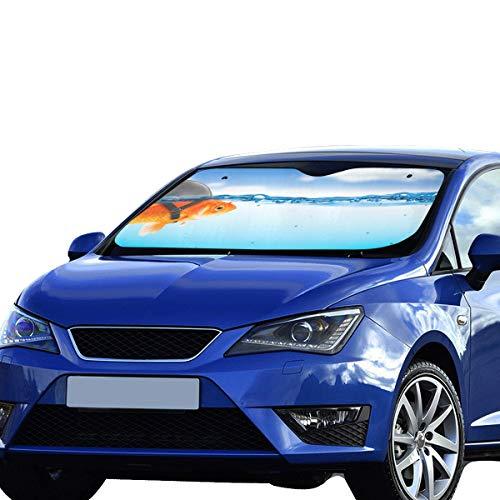 z für Auto-Windschutzscheibe Bunter Goldfisch Faltbarer Sonnenschutz für maximalen UV- und Sonnenschutz Halten Sie Ihr Fahrzeug kühl Faltbarer Sonnenschutz für Auto-Windschutzsche ()