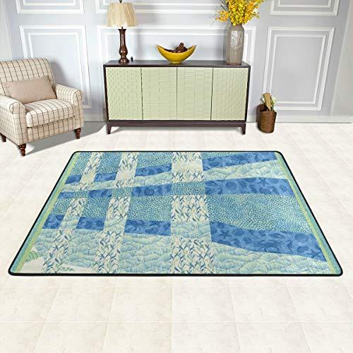 Spa-quilt (MALPLENA Malpela Serenity Spa Quilt-Teppiche für Wohnzimmer Fußmatte Teppich Fußmatten Schuhe Schaber für Wohnzimmer/Esszimmer/Schlafzimmer/Küche, rutschfest, Polyester, 1, 72 x 48 inch)