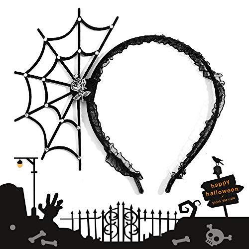 Halloween Stirnband Haarbänder Haarschmuck Cosplay Requisiten Erwachsene Kinder Diamant-Ring Spinnennetz