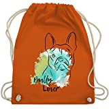 Hunde - Bully Lover - Unisize - Orange - WM110 - Turnbeutel & Gym Bag