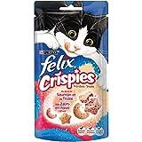 Felix Crispies : Saumon Truite - 45 g - Friandises pour Chat - Lot de 8