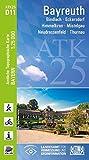 ATK25-D11 Bayreuth (Amtliche Topographische Karte 1:25000): Bindlach, Eckersdorf, Himmelkron, Mistelgau, Neudrossenfeld, Thurnau (ATK25 Amtliche Topographische Karte 1:25000 Bayern) - Landesamt für Digitalisierung  Breitband und Vermessung  Bayern