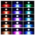 ONEVER Led Unterwasser Scheinwerfer Kit mit Fernbedienung | 4pcs Mehrfarben RGB Aquarium Lichter mit EU Stecker | IP68 Wasserdicht für Gartenteich-Fisch-Behälter-Beleuchtung