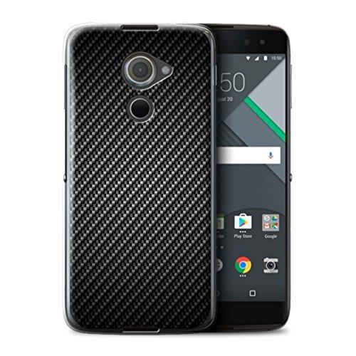 Stuff4® Hülle/Case für BlackBerry DTEK60 / Grau Muster/Kohlenstoff-Faser-Muster Kollektion