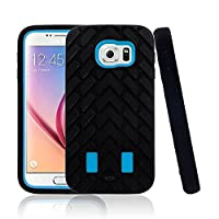 MOFREDŽ Black & Blue Samsung Galaxy S6 Case Full Body Shockproof Case Cover