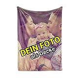 Carpezz Decke mit eigenem Foto | Decke selbst gestalten | Decke Bedrucken Lassen mit Wunsch-Motiv | 125x155 cm