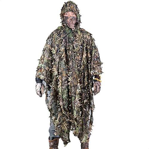 XNNSH Erwachsener Ghillie Anzug von OutsideFun Camouflage Jungle Hunting Set (Ghillie Anzug Kostüm)