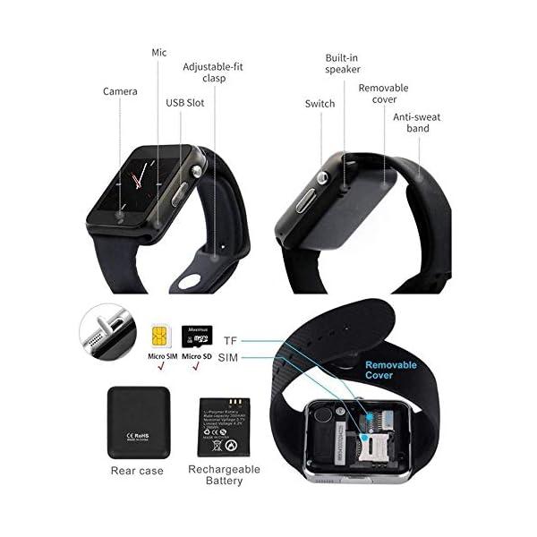Smartwatch para Hombres y Mujeres, Reloj Inteligente con Monitor de Pasos, Pulsera Deportiva Inteligente, Reloj de… 6