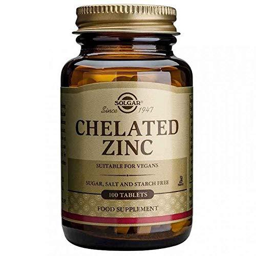 Solgar Zinc Quelado, 100 Comprimidos - Protege del daño oxidativo y