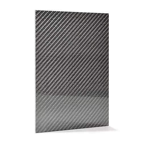 Pannello in fibra di carbonio lamiera 1-6mm, formato A3(2.969,3x 4.206,2cm; formato 297x 420MM) Made in Europa, 3mmA3, 3mm