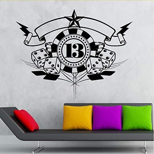 Lglays Autocollant Mural Sticker PokerAffiches Vinyle Stickers MurauxDécor Mural Divertissement Décor75 * 94Cm
