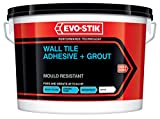 Evo Stik Tile A Wall Waterproof Adhesive & Grout for Ceramic & Mosaic Tiles - White Economy