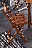 SAM Gartenstuhl Odense, Akazie-Holz, für Balkon Garten, Terrasse, zusammenklappbar, FSC® 100% Zertifiziert