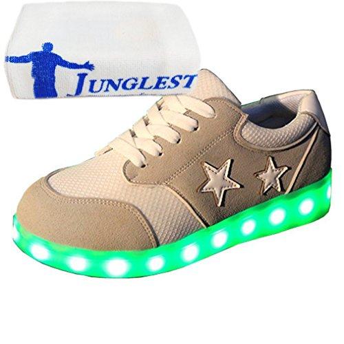 [Present:kleines Handtuch]JUNGLEST® Unisex Damen Herren USB Lade-LED-S Grau