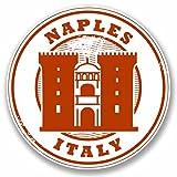 2 x 25cm/250 mm Naples Italie Autocollant de fenêtre en verre Voiture Van Locations #9787