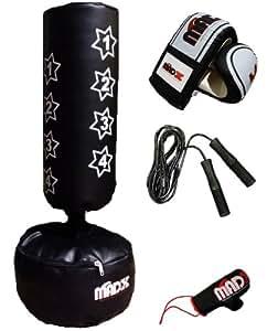 madx sac de frappe sur pied pour enfant avec gants de boxe sports et loisirs. Black Bedroom Furniture Sets. Home Design Ideas