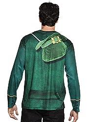 St Patricks Day Ireland Photrealistic Novelty T Shirt - Men's - Green