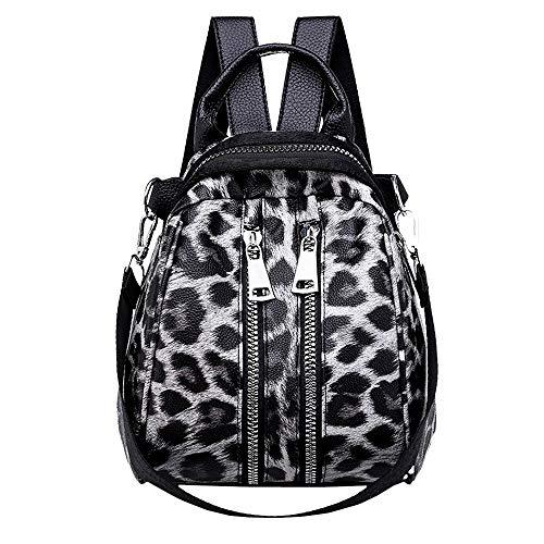TianWlio Damen Klassische Handtasche Mode Mädchen Leder Leopardenmuster Schultasche Rucksack Satchel Reise Umhängetasche Handtasche Winged Schultertasche Groß Umhängetasche Taschen