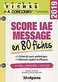 Score IAE message 80 fiches - Méthodes, savoir-faire et astuces