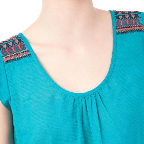 SPRINGFIELD - Blouse en crêpe avec détails brodés sur les épaules - Femme CERDEÑA