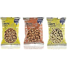 Moments to Cherish Roasted Peanuts Lime Chilli, Roasted Peanuts Chilli Garlic, and Roasted Peanuts Plain Salted, 270 grams (Combo of 3)