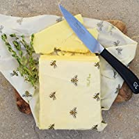 Nth Turtle Vendaje para alimentos de cera de abeja Cling, paquete de variedad, todo natural, reutilizable, fabricado en el Reino Unido, 3 prácticos tamaños de envoltorios – pequeño, mediano y grande