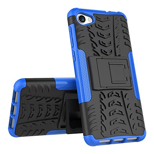 YHUISEN Alcatel A5 LED Case, Hyun Pattern Dual Layer Hybrid Armor Kickstand 2 in 1 Shockproof Case Cover für Alcatel A5 LED ( Color : Blue ) Blue