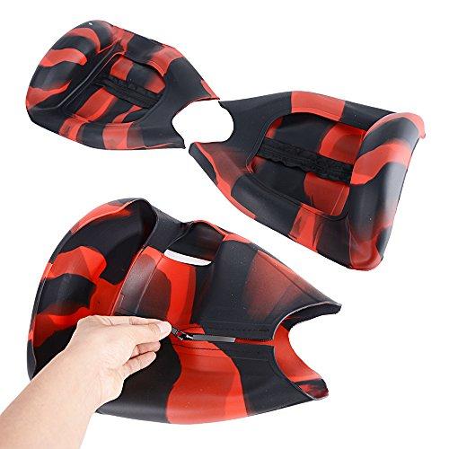 JNCH Cover Silicone 6,5 Pollici Protettivo Caso Copertura Chiusura di Lampo (Nero Rosso)