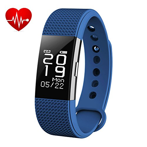 BINGO F2 WATERPROOF SMART BAND WITH HEART RATE MONITORING AND MANY MORE IMPRESSIVE FEATURES WHICH IS COMPATIBLE WITH ALL ANROID AND IOS DEVICE (BLUE)