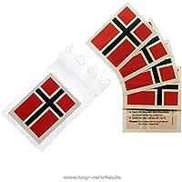 20 x Norwegen Tattoo Fan Fahnen Set - WM 2018 Norway temporary tattoo Flag (20)