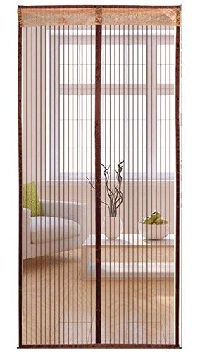 U.Buy Fliegengitter Tür Insektenschutz Vorhänge Magnetvorhang Magnetischer Fliegenvorhang Moskitonetz für Türen/Balkontür,Kaffee 80 * 210