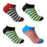 L&K-II 12 Paar Damen Sneaker Socken Füßlinge Mehrfarbig 92236 35-38