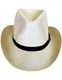 Amazon.it  Bianco - Cappelli da cowboy   Cappelli e cappellini ... 6ec48ee3b115