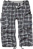 Brandit Hombres Industry Vintage 3/4 Pantalones Cortos Dark Gris / Púrpura Tamano M