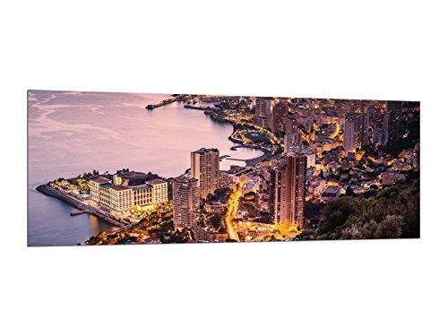Glasbilder Wandbilder 125 x 50cm Monaco Monte Carlo AG312502326 / Deco Glass, Design & Handmade/Eyecatcher, Kunstdruck!