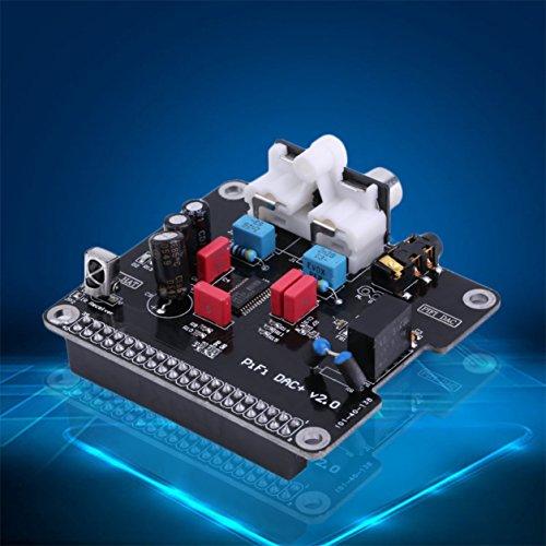 Dailyinshop Pratical HiFi DAC Módulo de Tarjeta de Sonido de Audio Interfaz I2S para Raspberry Pi B + 2 (Color: Negro)