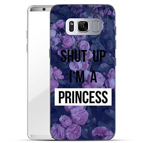 Finoo Samsung Galaxy S8 Handy-Tasche Schutzhülle | ultra leichte transparente Handyhülle in harter Ausführung | kratzfeste stylische Hard Schale mit Motiv Cover Case | Shut up i am a Princess