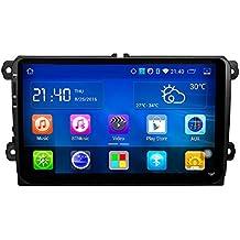 ancluu 9pulgadas 2Din Android Quad Core DVD para coche para VW Passat, Golf Mk5Mk6Jetta Polo Touran Sharan Radio de coche estéreo Navi Bluetooth Espejo Enlace