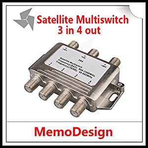 MU 3x4 DiSEqC satellite MULTICOMMUTATEUR FTA TV LNB commutateur Cascade satellite 3 à 4 Multicommutateur 2 LNB 1 TERR IN Pour DVB-S2 et DVB-T2