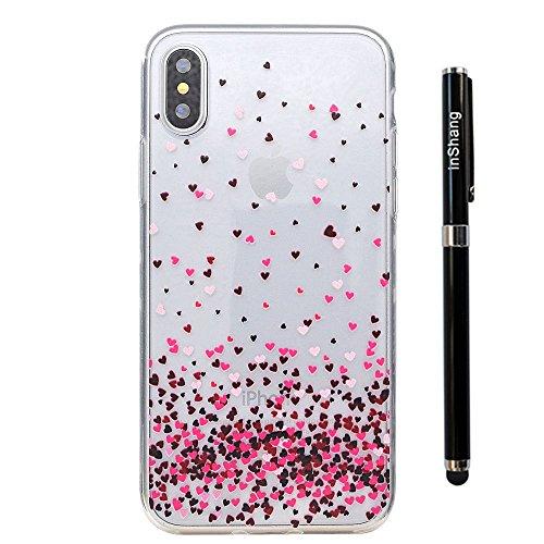inShang iPhone X 5.8inch custodia cover del cellulare, Anti Slip, ultra sottile e leggero, custodia morbido realizzata in materiale del TPU, frosted shell , conveniente cell phone case per iPhone X 5. Love