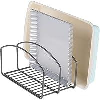 mDesign égouttoir vaisselle – joli séchoir vaisselle avec 3 compartiments pour une cuisine plus ordonnée – range-couvert…