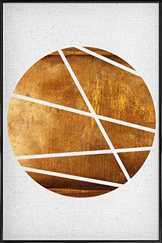 """JUNIQE® Bild mit Rahmen 20x30cm Abstrakt & Geometrisch - Design """"Circle"""" (Format: Hoch) - Wandbilder, Gerahmte Bilder & Gerahmte Poster von unabhängigen Künstlern - Abstrakte und moderne Kunst - entworfen von Froilein Juno"""