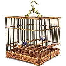 JiaYue Hecho a Mano de Pera de Madera Rectángulo Jaulas para Pájaros Latón de Gancho hasta