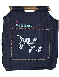 Multipurpose Washble Denim Grocery Bag/Fruit Vegetable Bag/General Use Bag/Shopping Bag/Luggage Bag | DCDW00-9