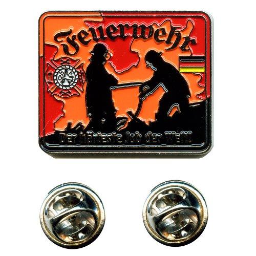 Feuerwehr Retten Bergen Löschen Schützen Helden Badge Button Pin Anstecker 0645 -