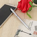 #8: 2 in 1 Capacitive Stylus Pen With Ball Pen for Android Touch Sceen Mobile Phones and Tablets All iPads and iPhones Pack of 1 Silver (With Free Token)