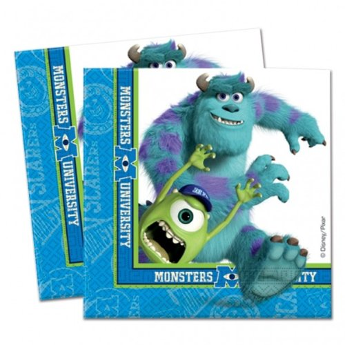 Monsters Inc Monsters University Party Servietten x 20 (Monster Aus Monsters Inc)