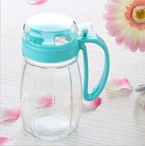asentechuk® 620ml Glas auslaufsichere Dichtung Öl Flasche Sojasoße Essig Essig Haushalt Küche Supplies (zufällige Farbe)