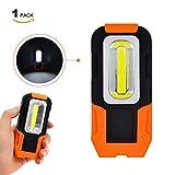 Linterna Lampara de Trabajo COB LED 3W Bateria Portatil Muy Potente con Base Magnetica y Gancho para Trabajar, Camping, Emergencia Pack de 1 de Enuote