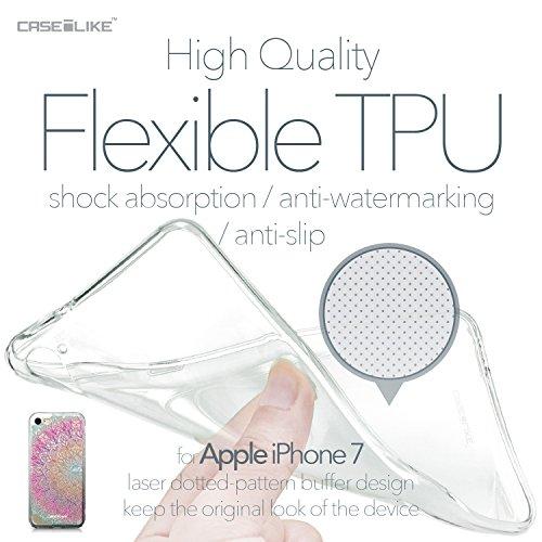 CASEiLIKE iPhone 7 Hülle, iPhone 7 TPU Schutzhülle Tasche Case Cover, Comic Beschriftung 2914, Kratzfest Weich Flexibel Silikon für Apple iPhone 7 Mandala-Kunst 2090